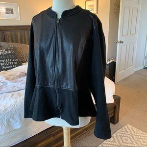 Lane Bryant Black peplum jacket sz 20